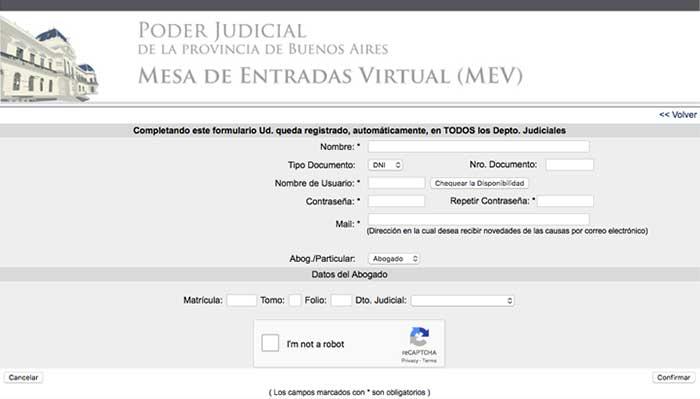 MEV Mesa de Entradas Virtual scba