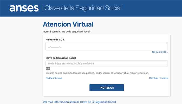 ingreso atención virtual