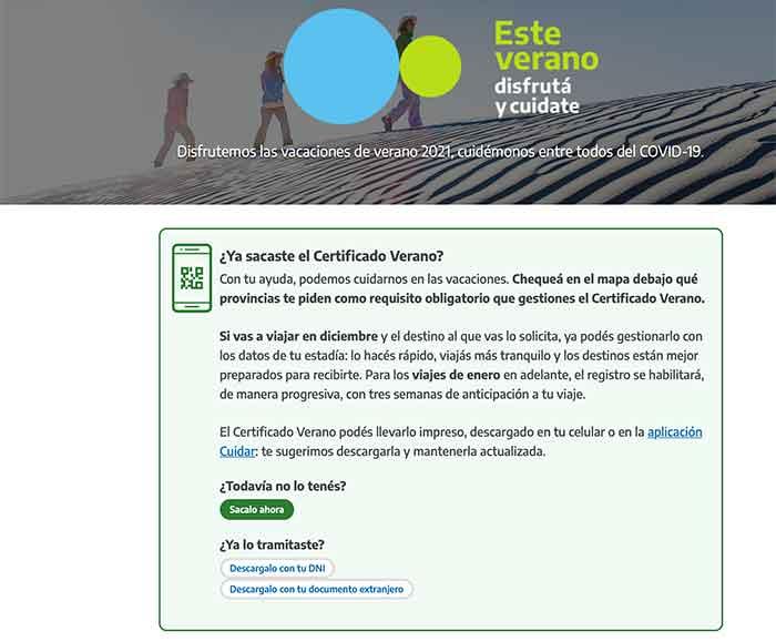Certificado Verano web inicio