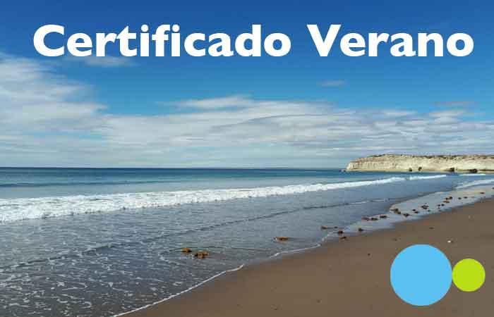 Certificado Verano Viajar