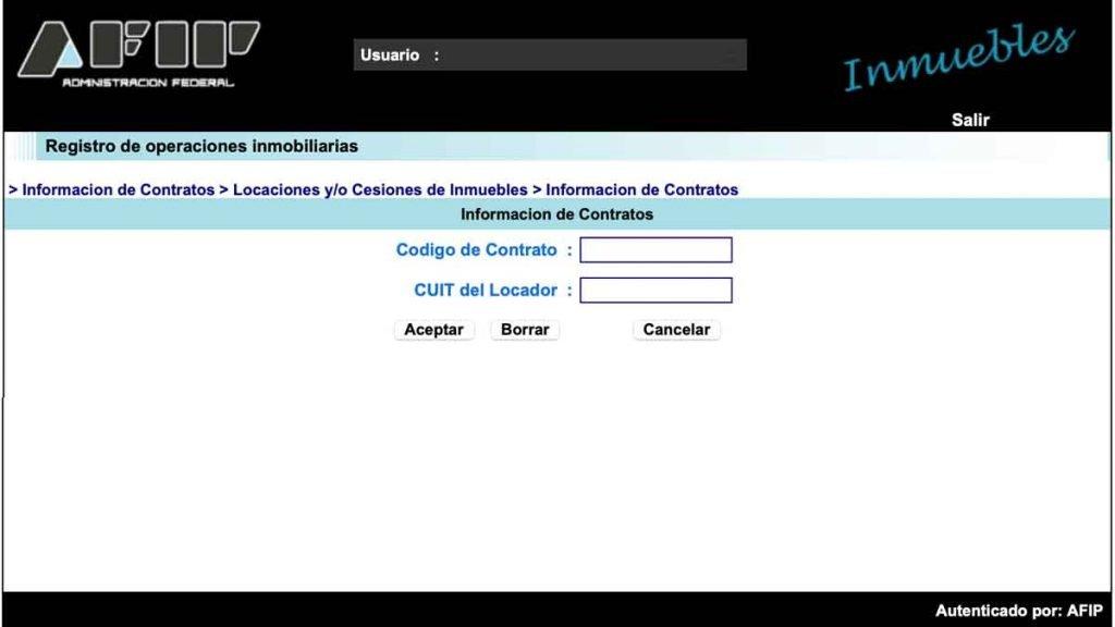 Registro de contratos de alquiler 2021