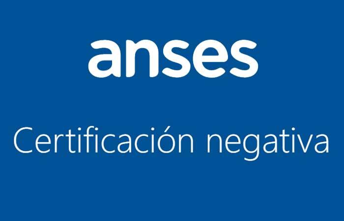 certificacion negativa